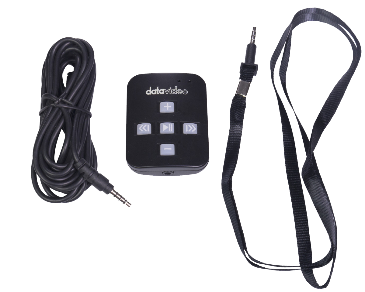 Optional remote by bluetooth or wired connection