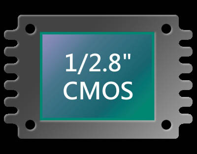 """1/2.8"""" CMOS and Two Megapixel Resolution"""