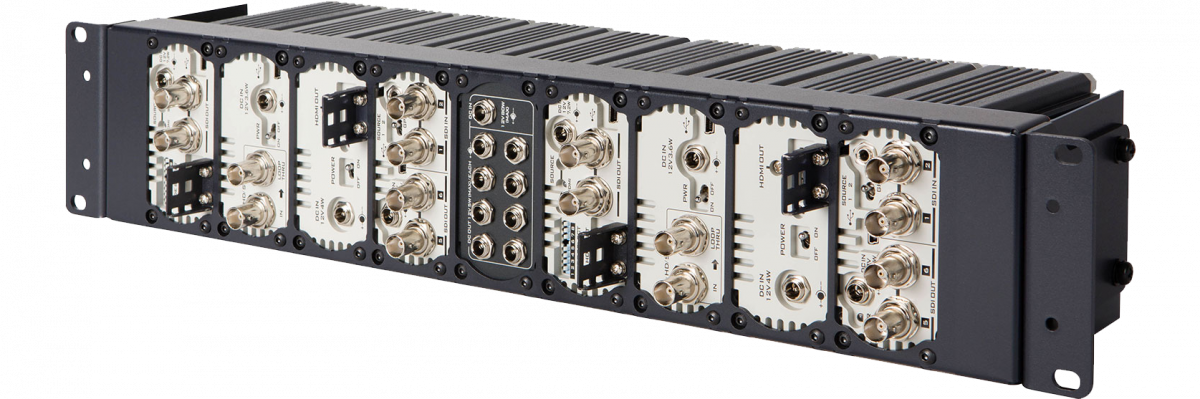 Rackmount frame to hold up to 8 DAC converters