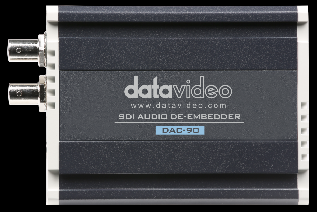 <p>Allows users to de-embed 16 analogue audio signals (4 at a time) from SDI video signal.</p>