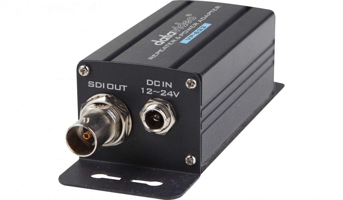 Each extended SDI signal up to 200m, when used with multiple VP-634's allows runs of up to 1000m