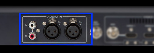 External audio inputs