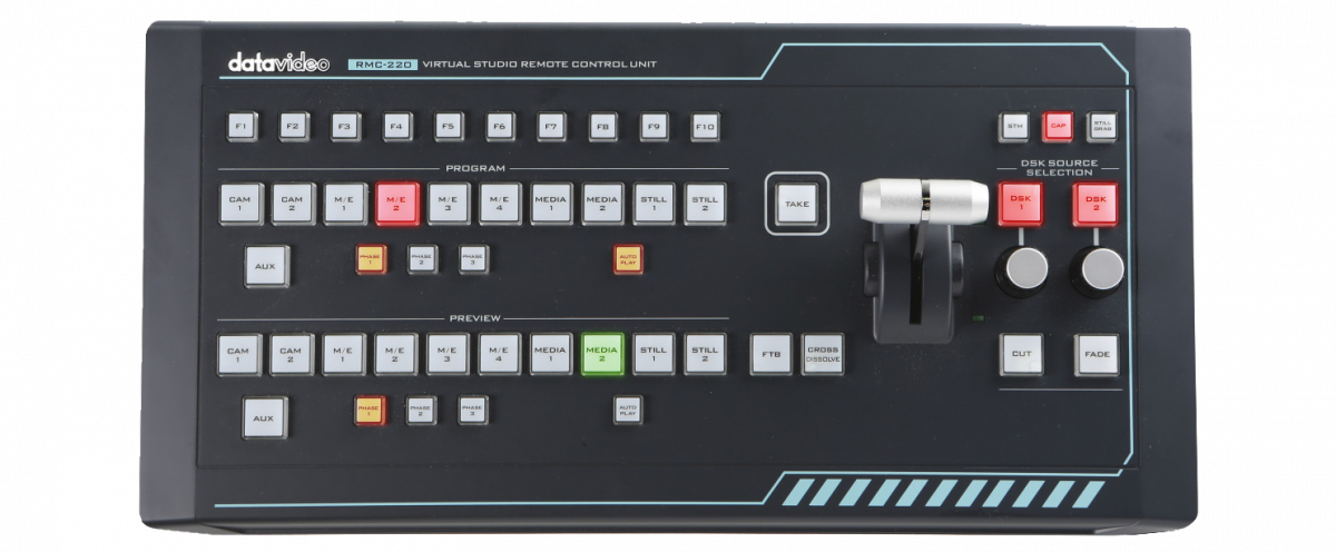 Includes an easy-to-use virtual show controller