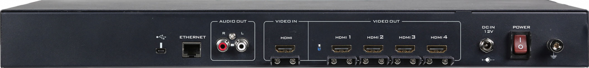 Four HDMI outputs with resolution up to 1920x1200