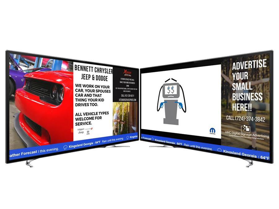 Useful applications in digital signage, indoor, and outdoor studios