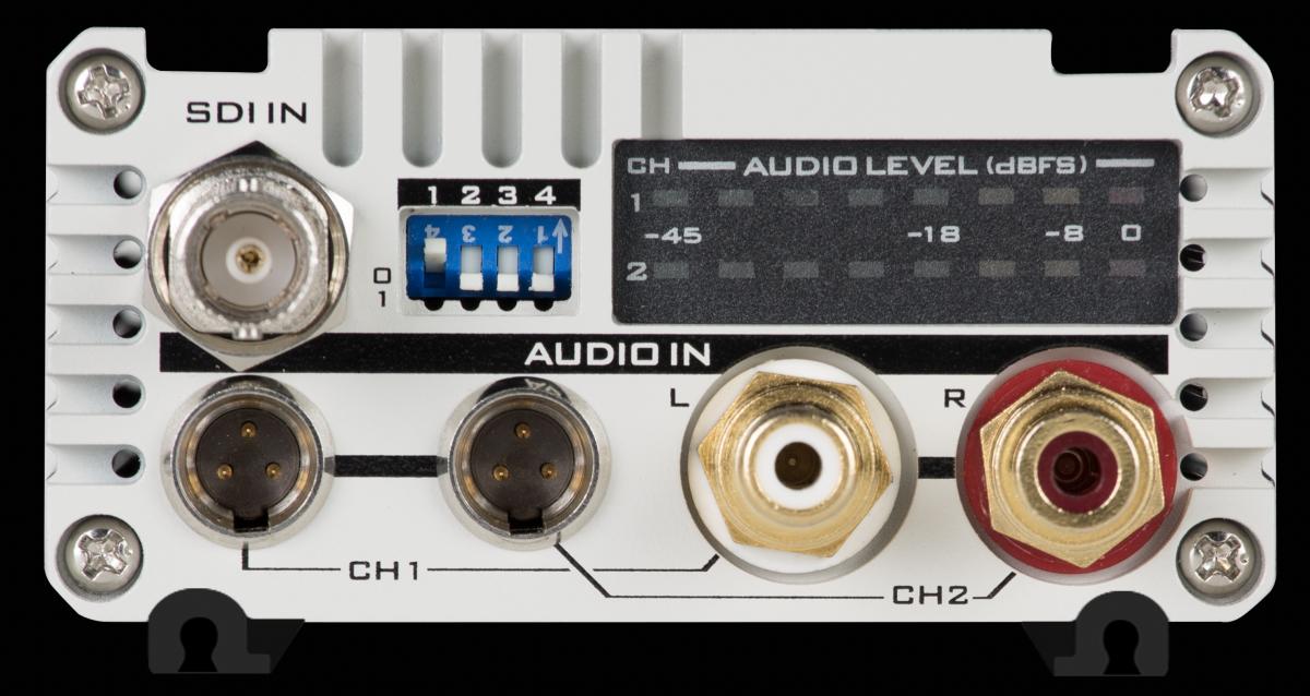 4 x Analogue Audio inputs (Mini XLR x 2, RCA x 2)