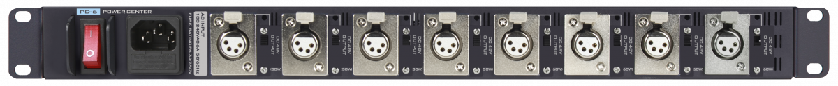 8 DC 48V outputs with a combined total power consumption of 360W