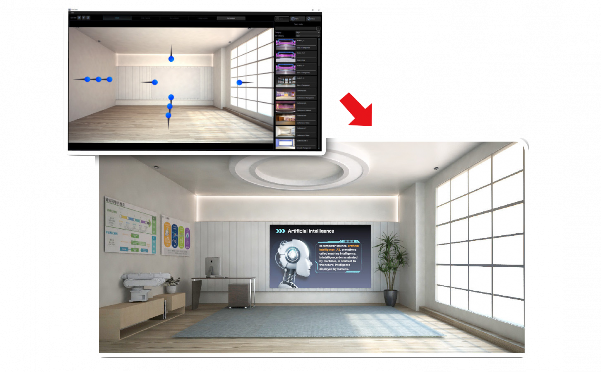 Easily create your virtualset with no prior professional experience