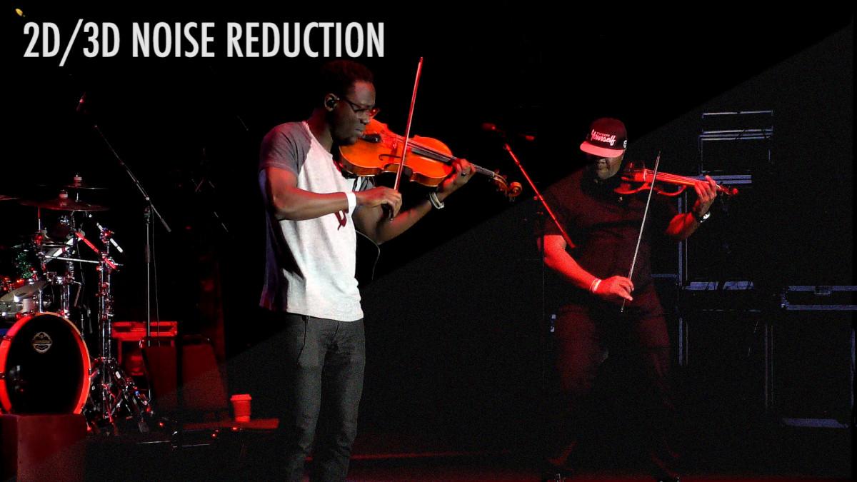 Advanced 2D/3D noise reduction function