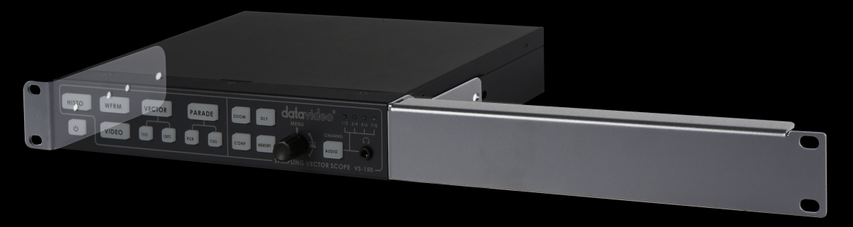 The RMK-1 is a rack mounting accessory for datavideo 0.5U sized products.  The RMK-1 can mount one or two 0.5U products into a 1U rack space. It allows a combination of 2 of the follow 0.5U products (or any 1 by itself)