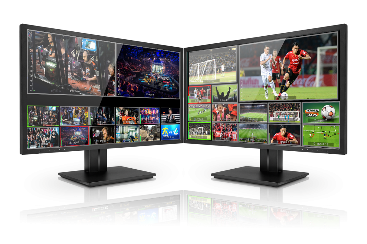 Connect up to two displays to all 3200 series switchers for a dual Multiview output. Choose from many pre-defined multi-view layouts or define your own!