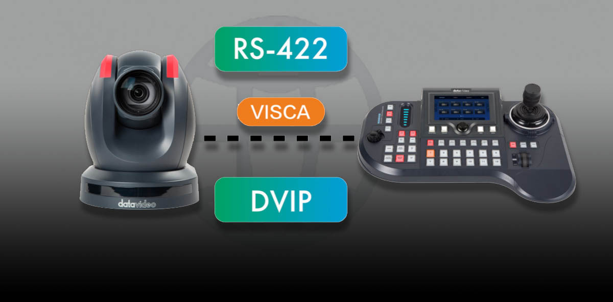 RS-422, DVIP and Ethernet Camera Control