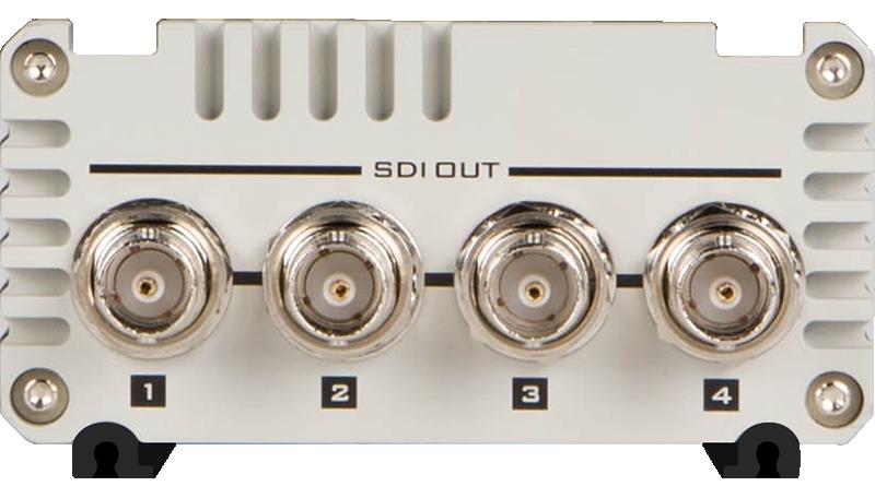 Supports embedded audio SDI