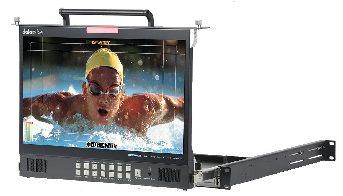 17.3'' Full HD foldable rackmount monitor