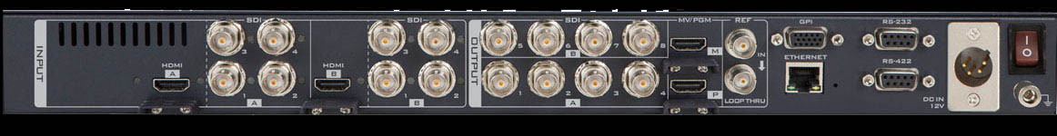 Create up to 8 new HD video sources from two 4K cameras.