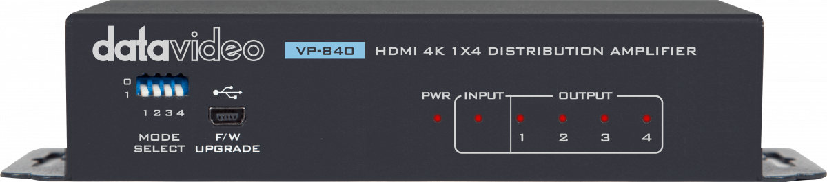 1 x HDMI input and 4x HDMI outputs