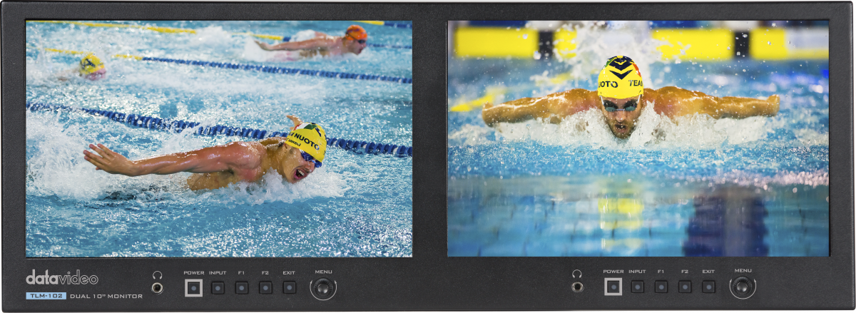 Dual 10'' Full HD desktop monitor