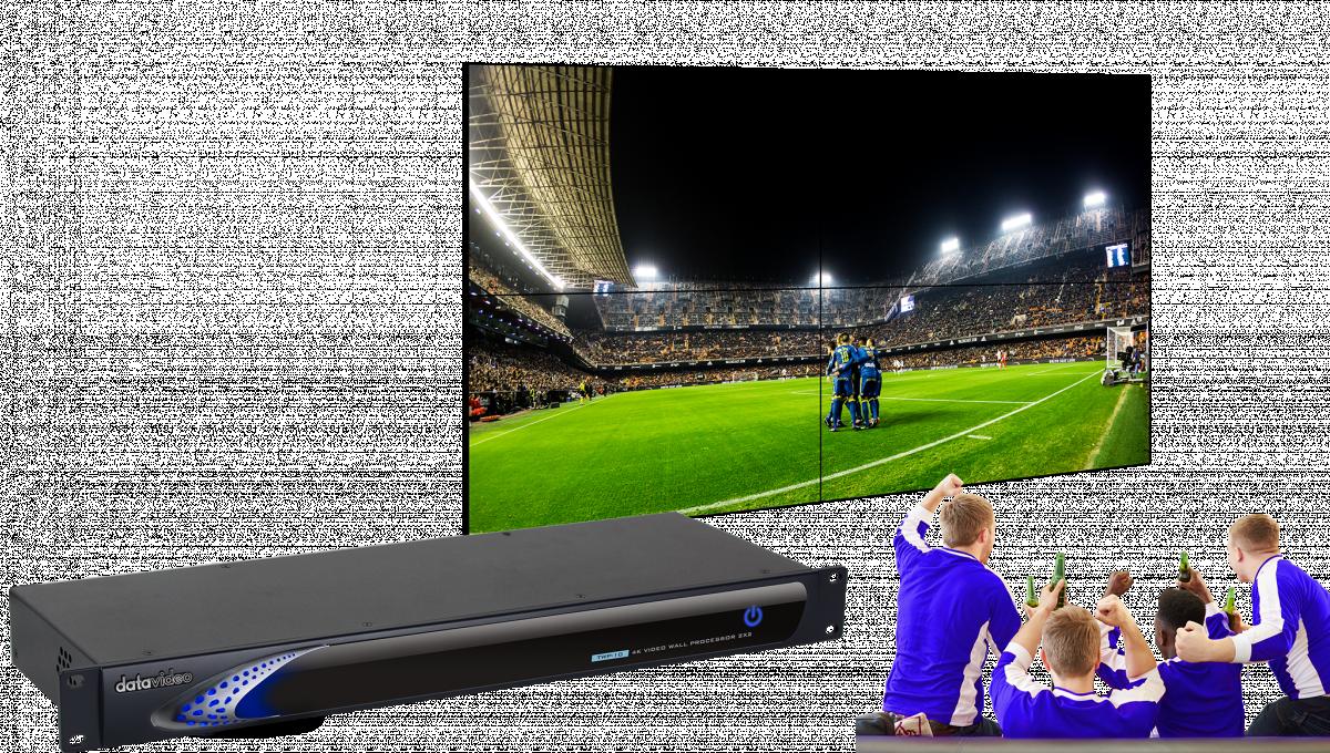 Distribute a single HDMI input to a 2x2 video wall