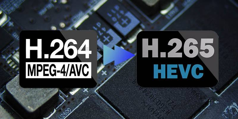 H.264/H.265 video compression for streaming