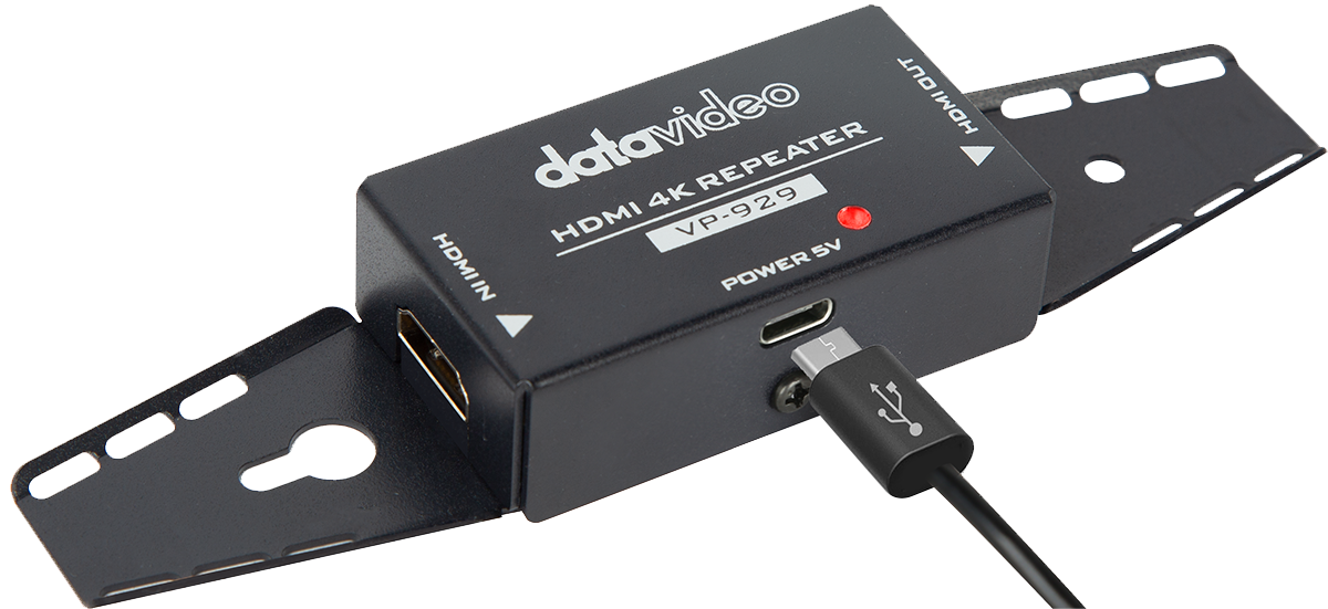 Powered by HDMI signal or external power supply