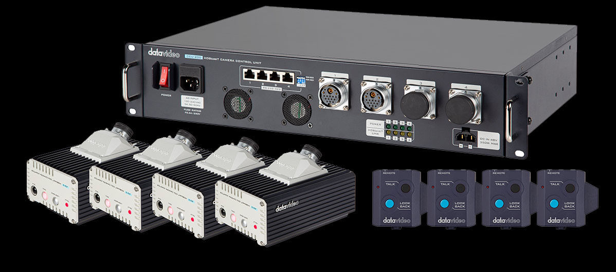 Support up to 4 Cameras with a Full Range of Camera Controls