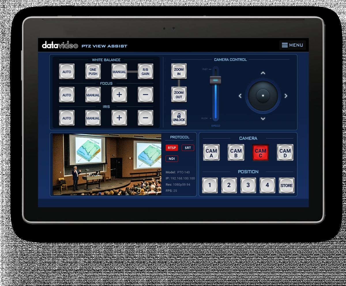 Assistente de visualização da PTZ: controle até quatro câmeras