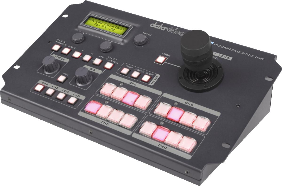Remote control up to 4 Datavideo PTC/BC cameras