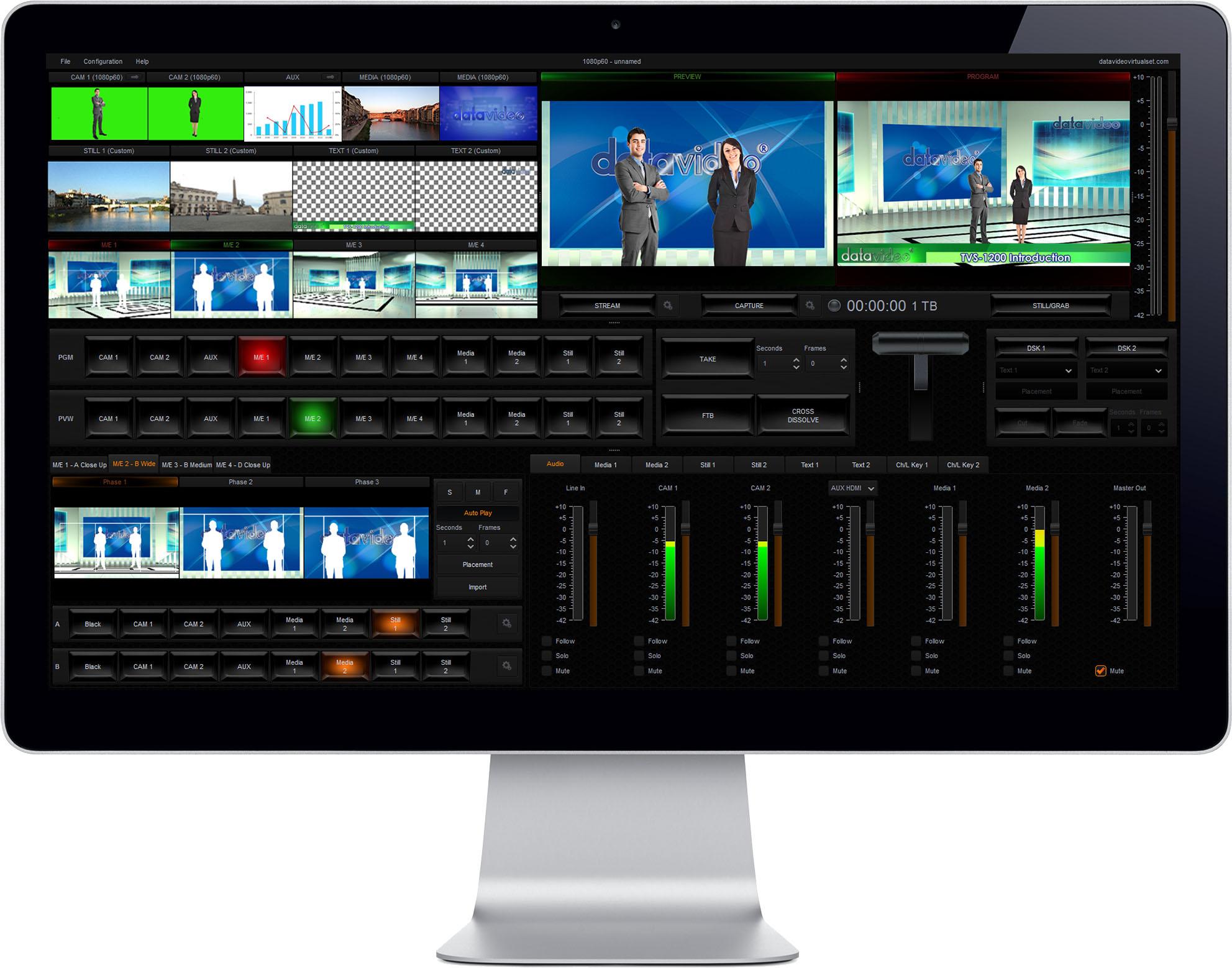 Easy setup Trackless Virtual studio