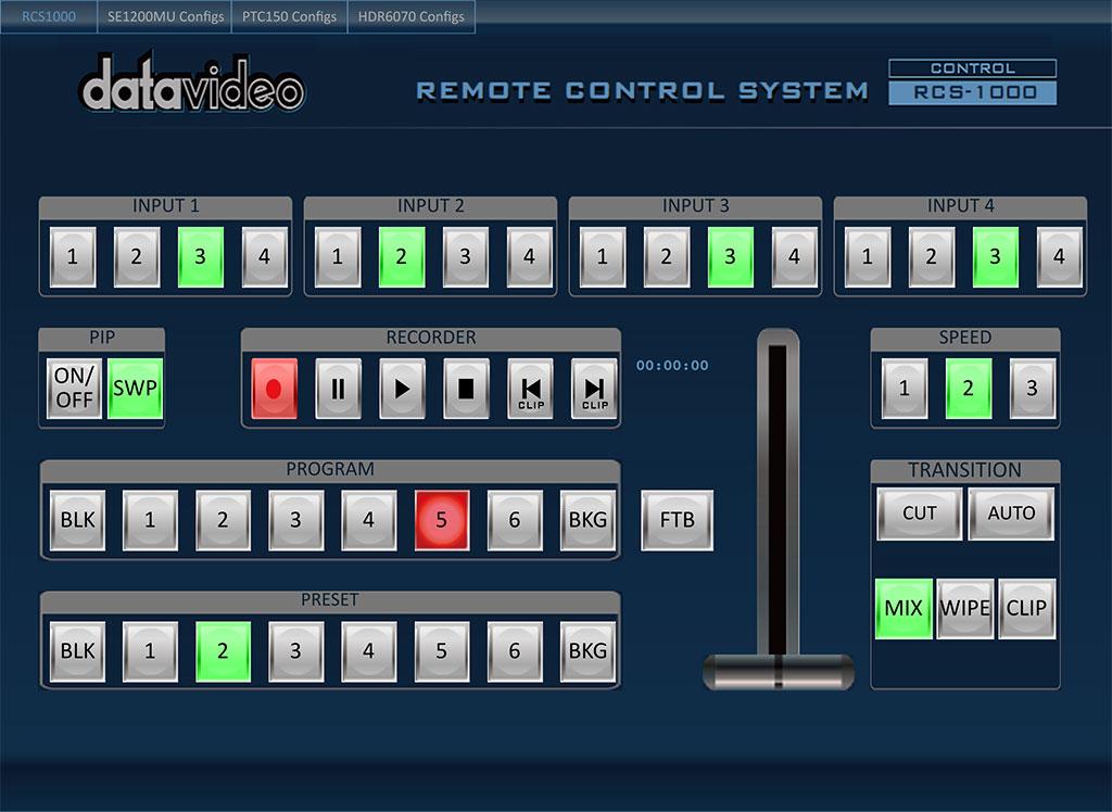 Versatile controlling software